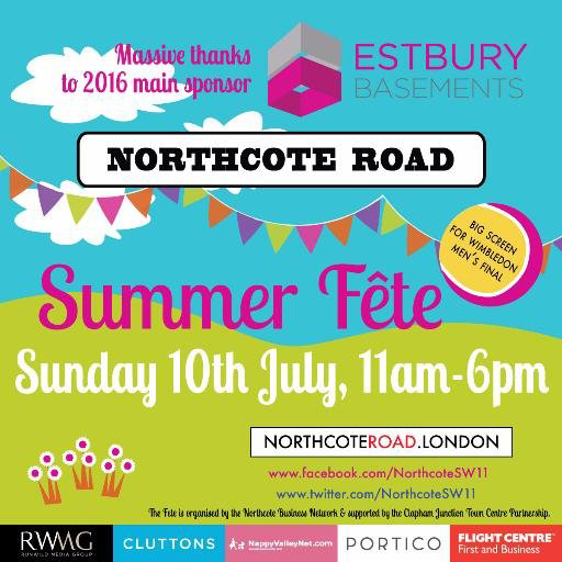 Northcote Road Summer Fete Poster