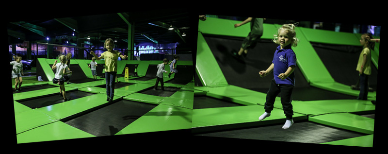 Main shot of Flip Out Wandsworth trampolines