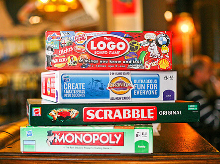 Board games at The Goat in Wandsworth