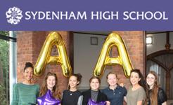 Sydenham High sixth formers count their lucky stars!
