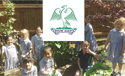 St Anthony's School for Girls Pupils Blossom in the Garden