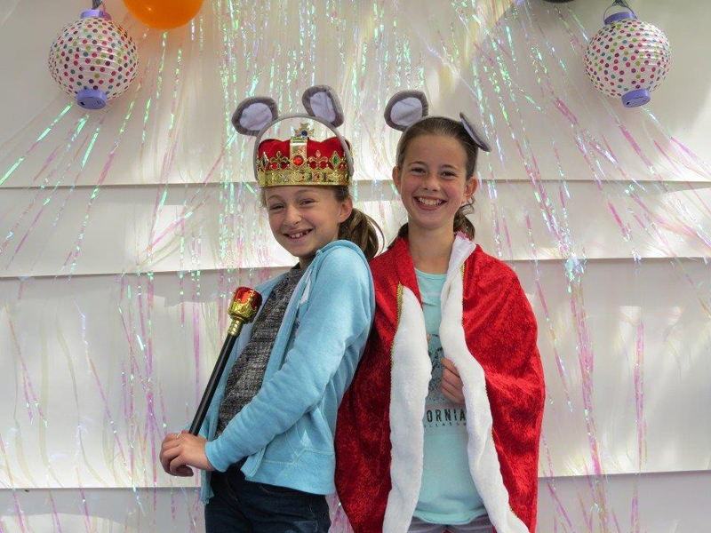 From left, Ruby Guy (10) and Josie Ridley-Smith (10) enjoyed the photobooth