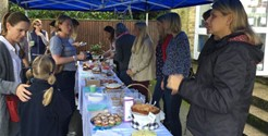 Falcons Girls Celebrate Peregrines Garden Opening with a Macmillan Coffee Morning