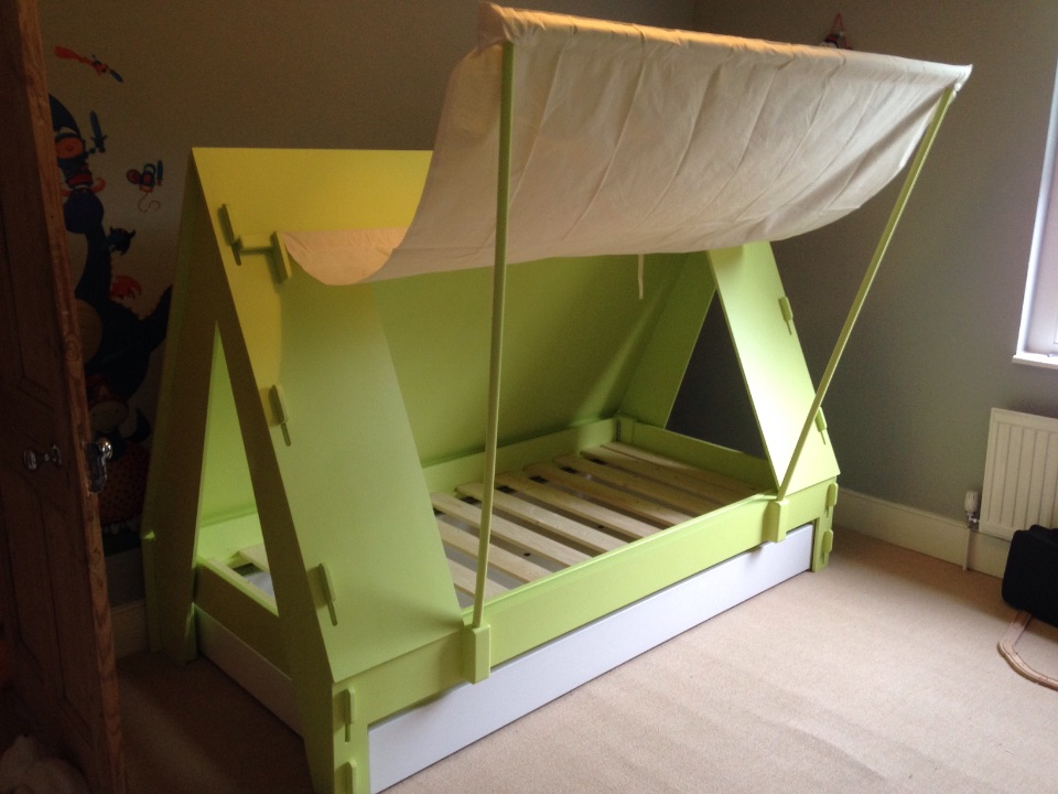 297b05eb49fc Kids Tent Cabin Bed with trundle drawer for SALE - NappyValleyNet: a ...
