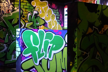 Flip Out Wandsworth Graffiti Logo