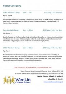 Half Term Camp - WenLin Chinese School @ Chestnut Grove Academy | London | United Kingdom