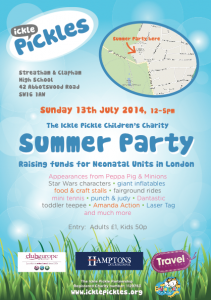 The Ickle Pickles Summer Party @ Streatham & Clapham Girls School | London | United Kingdom