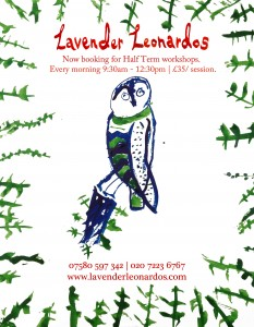 Half Term Art Workshops at Lavender Leonardos @ Lavender Leonardos Children's Art School | London | United Kingdom