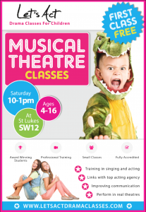 Let's Act - musical theatre fun! @ St Luke's Chuch Hall    London   United Kingdom