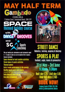 Space Themed May Half Term Course, Dance Grooves & SG Sport @ Gambado Chelsea | London | United Kingdom