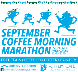 A Month for Macmillan: Pottery Cafe Coffee Morning Marathon @ Pottery Cafe-Fulham | London | United Kingdom