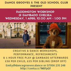Paddington Creative and Dance Workshop @ Gambado Chelsea @ Gambado Chelsea   London   United Kingdom