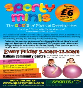 Sporty Minis @ Balham Community Centre | London | United Kingdom