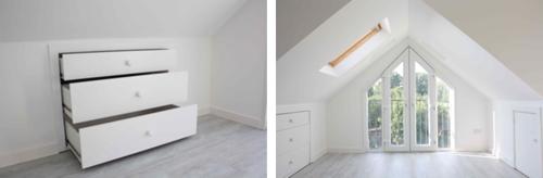 slanted roof closet ideas - Storage Ideas Eaves Storage Wardrobes